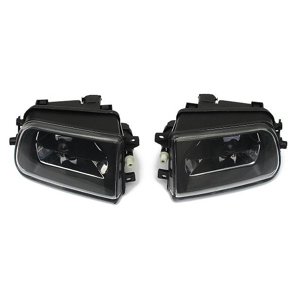 Pair car fog lights driving spot lamps black housing for bmw