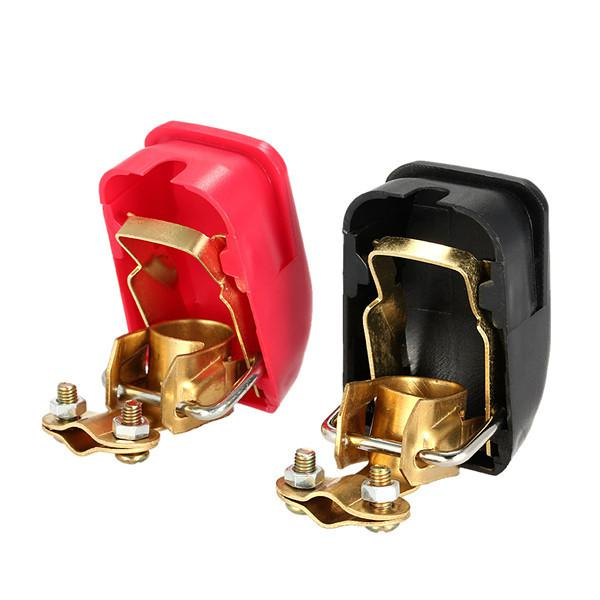 Pair of 12v quick release battery terminals clamps for car