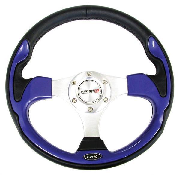 Steering wheel - pvc - blue