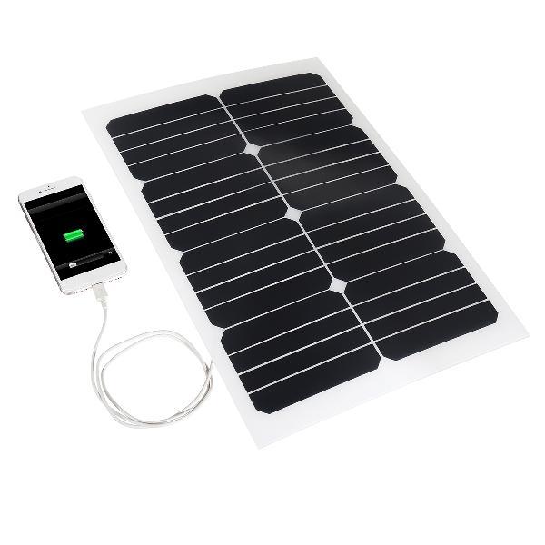 20w 12v mono semi-flexible solar panel battery charger
