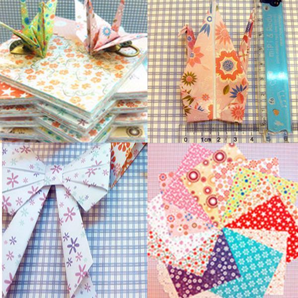 72 sheets origami diy crane craft folding paper various