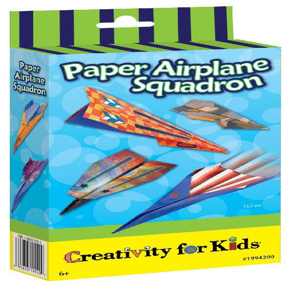 Creativity for kids paper airplane squadron - create and