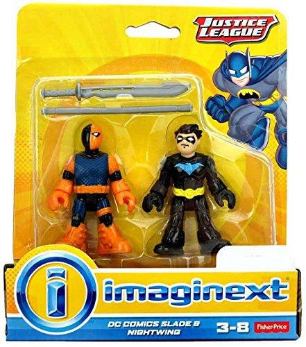 Imaginext, dc comics justice league, slade (deathstroke) and
