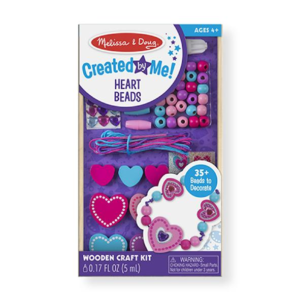 Melissa & doug decorate-your-own wooden heart bead set and