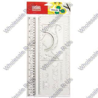 Stencil rulers 2 piece fun technical