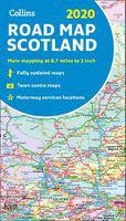 2020 collins map of scotland (sheet map, folded, new