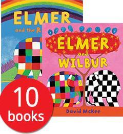 Elmer the elephant 10 book pack