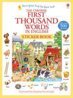 First 1000 words in english sticker book (staple bound)