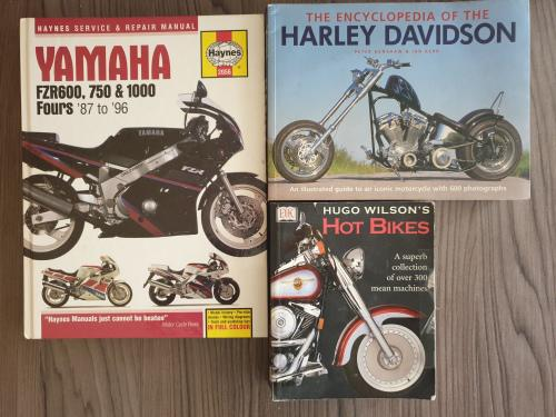 Motorcycle books x 3. all in one lot! harley davidson,