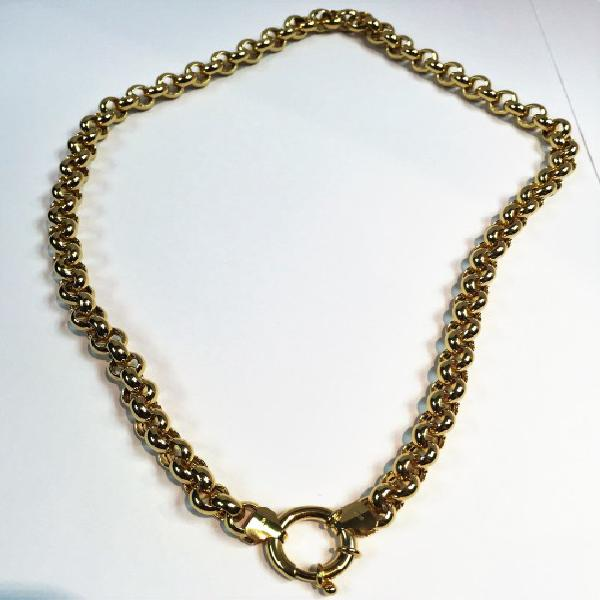 9 carat gold---rolo/belcher necklace cm 50---- mm 8 wide