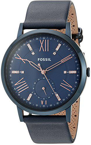 Fossil women's es4109 gazer multifunction blue leather watch