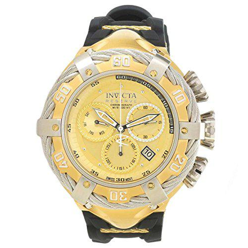 Invicta bolt chronograph gold dial mens watch 21366