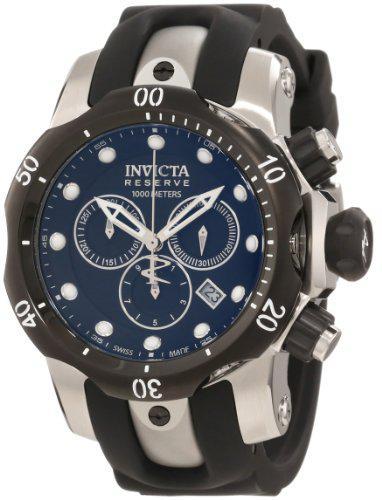 Invicta men's 0947 venom reserve chronograph black dial