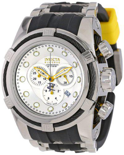 Invicta men's 14073 bolt reserve chronograph silver dial