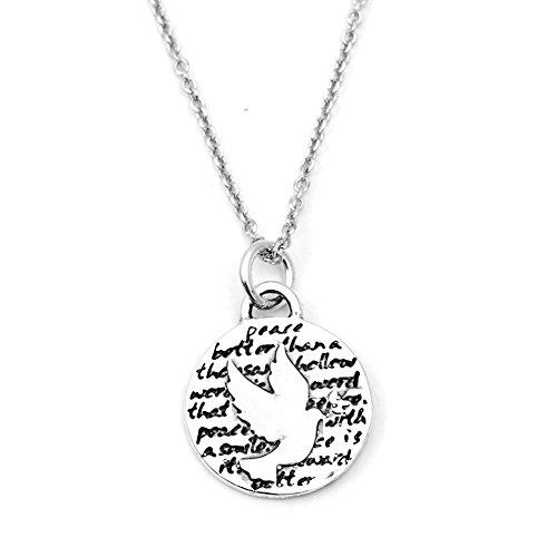 Kevin n anna dove (peace) sterling silver small pendant