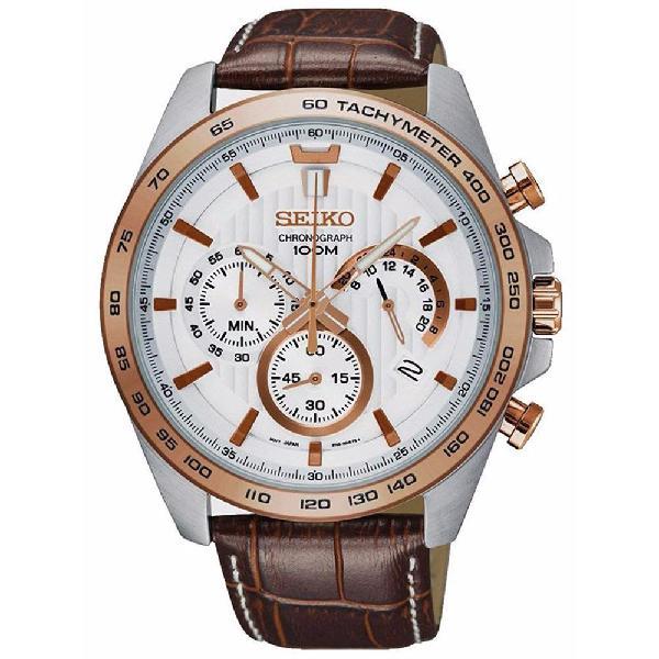 Seiko Chronograph Quartz Tachymeter Men's Watch