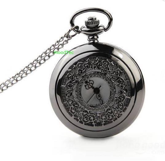 Stylish vintage pocket watch - dark silver - (local