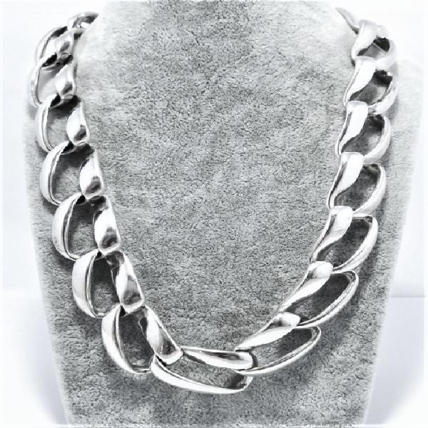 Wow !!! genuine silver ladies designer chain and bracelet