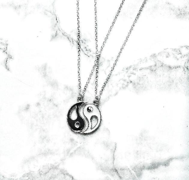 Yin yang charm chain necklace set