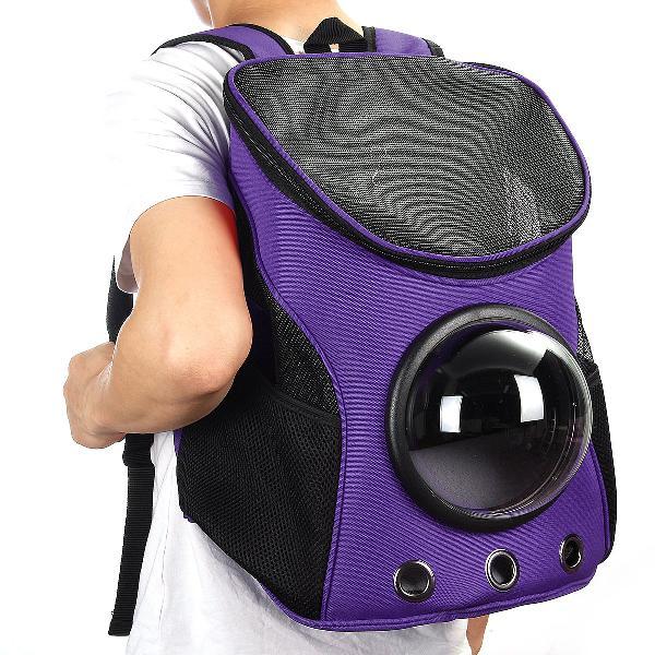 Astronaut pet travel backpack - purple