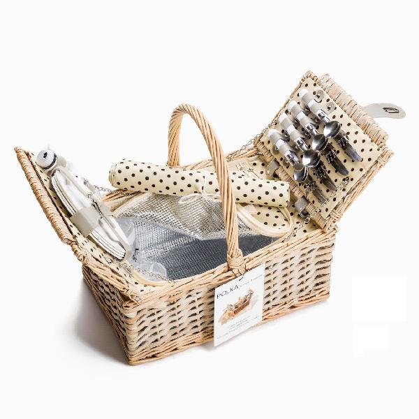 Yuppie gift baskets polka picnic basket (4 persons)