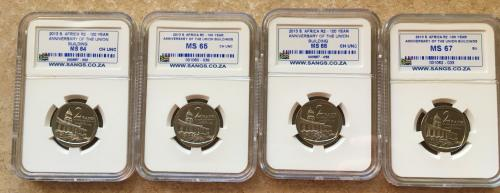 2013 sangs graded union buildings r2 coins (ms64 - ms67)