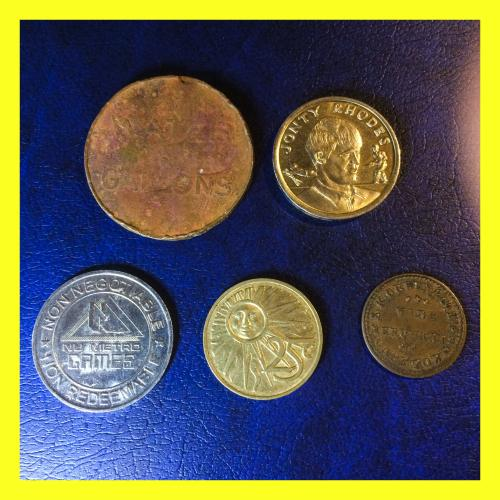 Old south african token memorabilia set