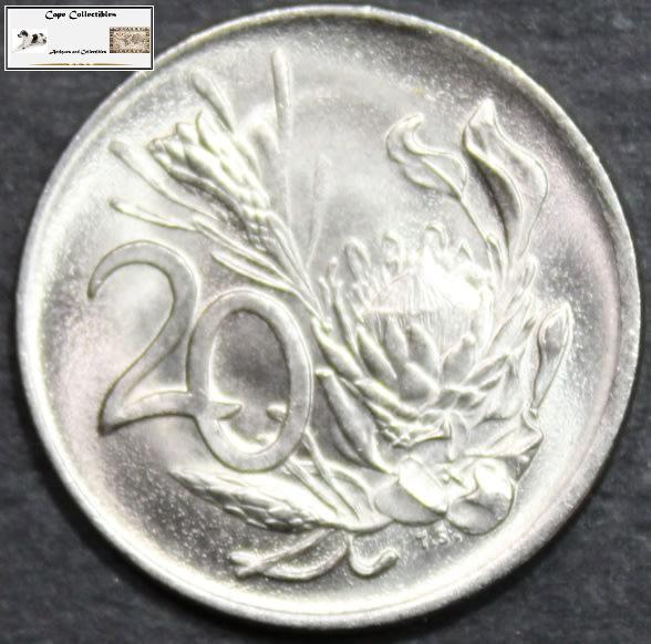 South africa 20 cent 1976 coin ef40.