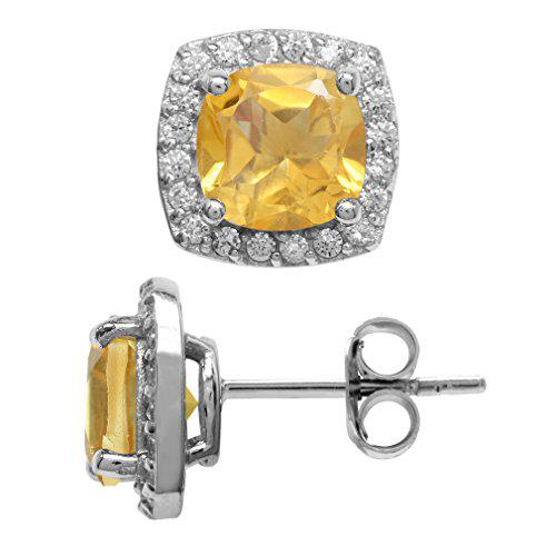 2.68ct. 7MM Natural Cushion Shape Citrine 925 Sterling
