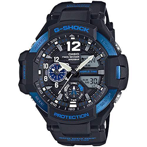 Casio g-shock gravitymaster men's sports watch (black/blue)