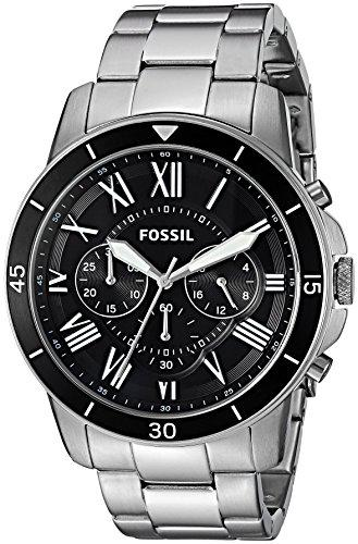Fossil mens fs5236 grant sport chronograph stainless steel