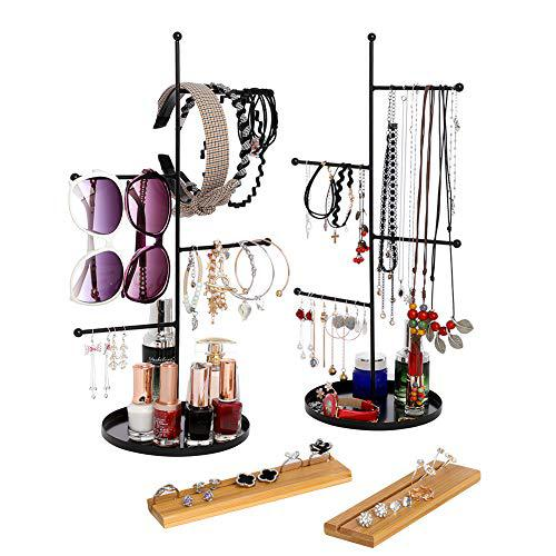 Furniture life 4 tier hanging jewelry organizer and bamboo