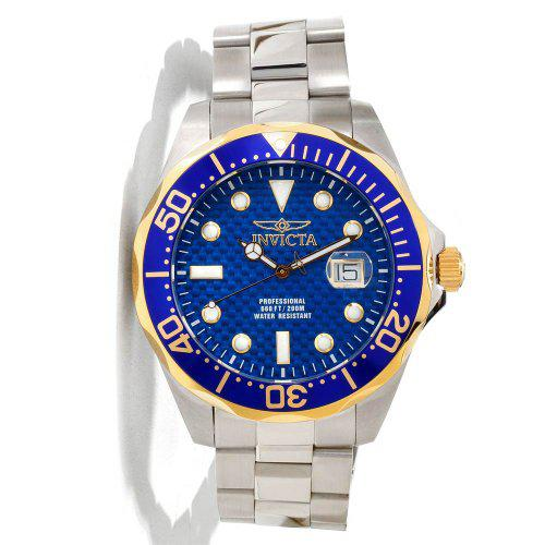 Invicta grand diver blue carbon fiber dial mens watch 12566