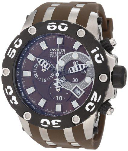 Invicta men's 0907 subaqua reserve chronograph brown dial