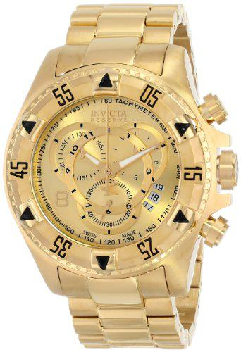Invicta men's 6471 excursion reserve chronograph 18k gold