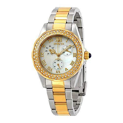 Invicta women's 28437 angel quartz 3 hand white dial watch
