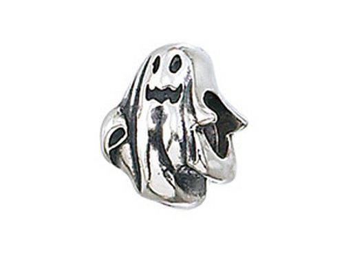 Zable Sterling Silver Ghost Bead / Charm