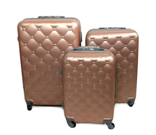 Set of 3 lightweight travel luggage suitcase