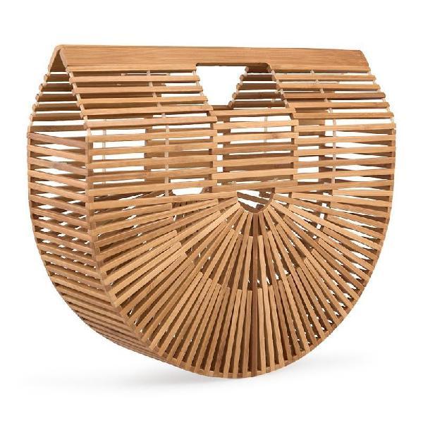 Tessa design semi circle bamboo bag
