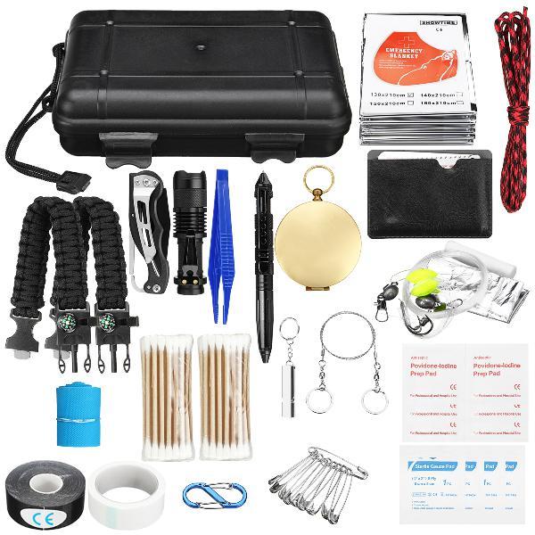 177pcs survival tools kit emergency survival kit multi-tools