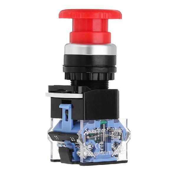 22mm Self-locking Button Switch Power Mushroom Round