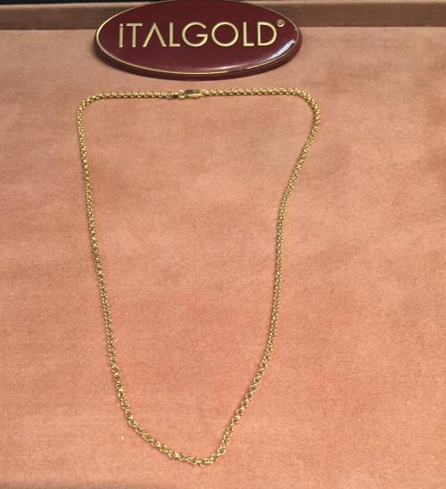 9 carat -- imported cm 45 long necklace gold belcher - rolo'