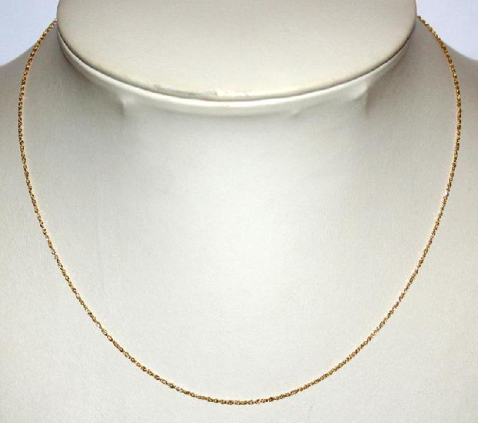 9k / 9ct gold glitter singapore chain: 1.15mm wide, 45cm.