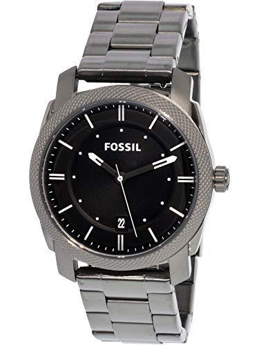 Fossil men's fs4774 machine smoke stainless steel bracelet