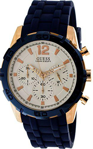 Guess watches men's guess men's blue-rose gold-white watch