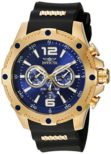 Invicta men's 19659 i-force 18k gold ion-plated watch with