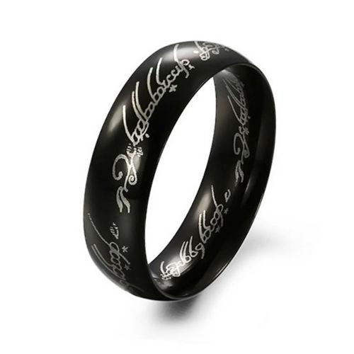 Lord of the rings fans - lord of the rings black ring - size
