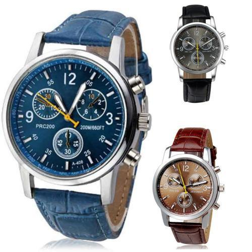 Quartz watch faux chronograph wristwatch - pick a color