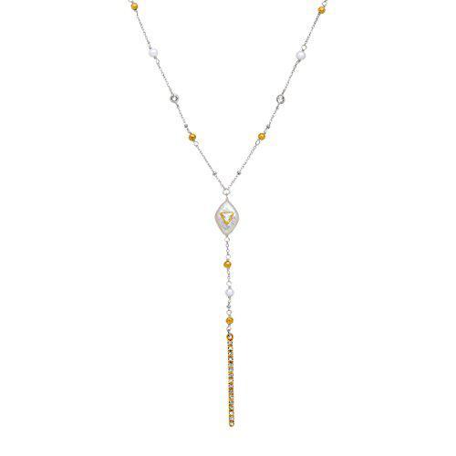 Silpada 'fall in line' sterling silver, swarovski, pearl