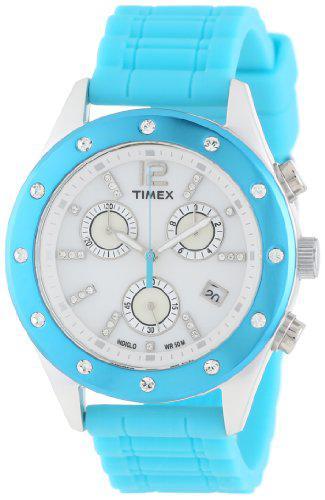 Timex women's t2n833ab originals sport chronograph crystal